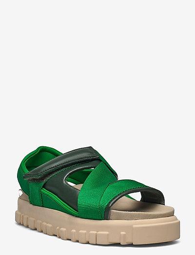 National Sandal Velcro - flate sandaler - green
