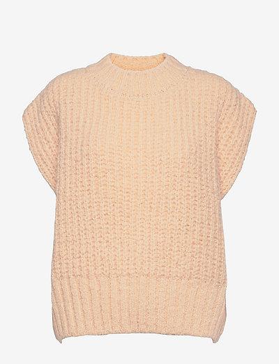 Sila Knit Vest - knitted vests - ecru