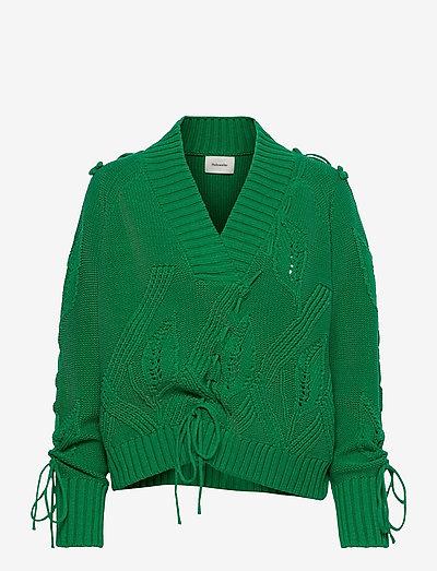 Baloon Knit Sweater - gensere - green