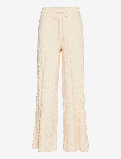 Thiril Knit Trouser - vide bukser - ecru
