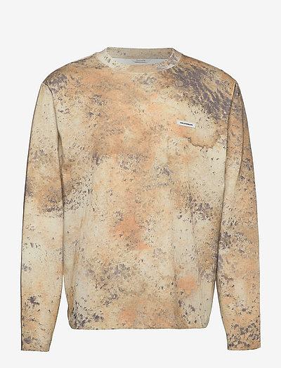 Sediments LS - t-shirts à manches longues - brown mix