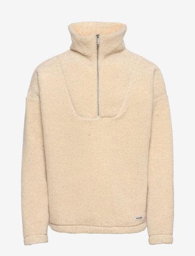 Mase Half Zip - hoodies - sand mix