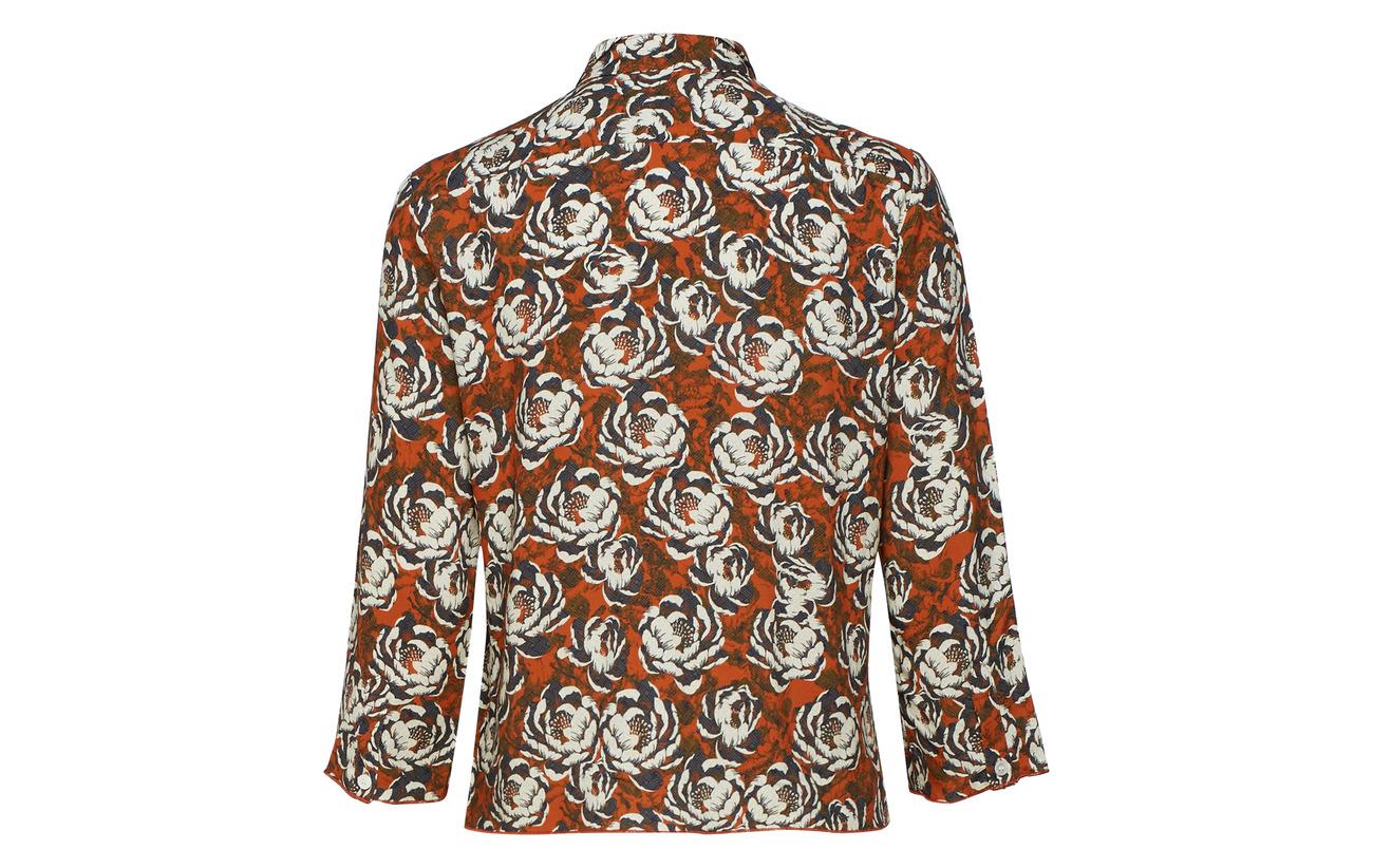 Shirt Viscose Print Rust Zand Hope Flower 100 SBwA5Bxq