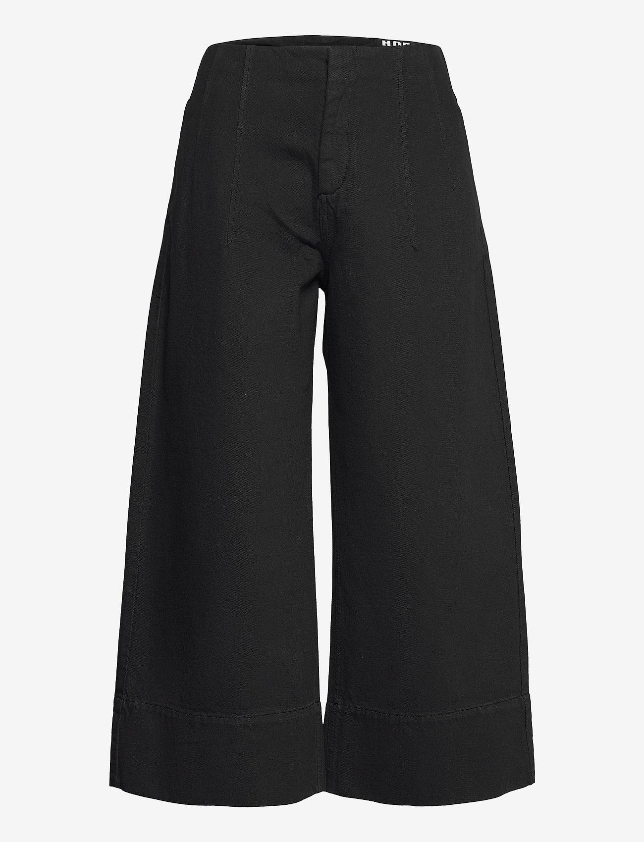Hope - Vast Trousers - bukser med brede ben - washed black - 1