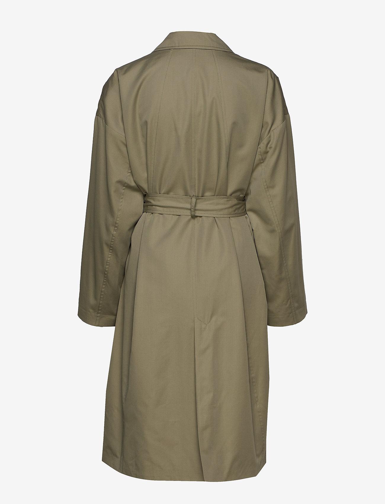 Hope - Standard Coat - trenchcoats - khaki green - 1