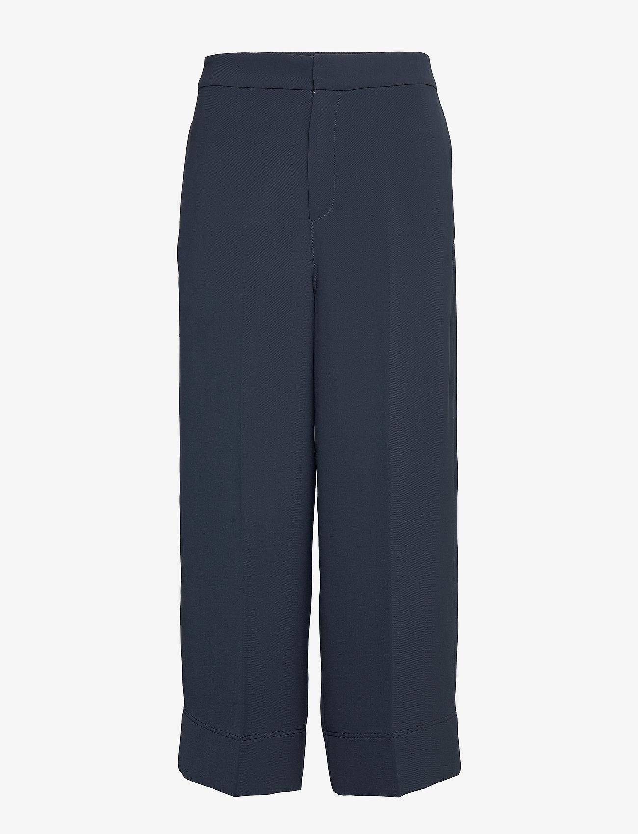 Hope - Frame Trousers - bukser med brede ben - navy - 0