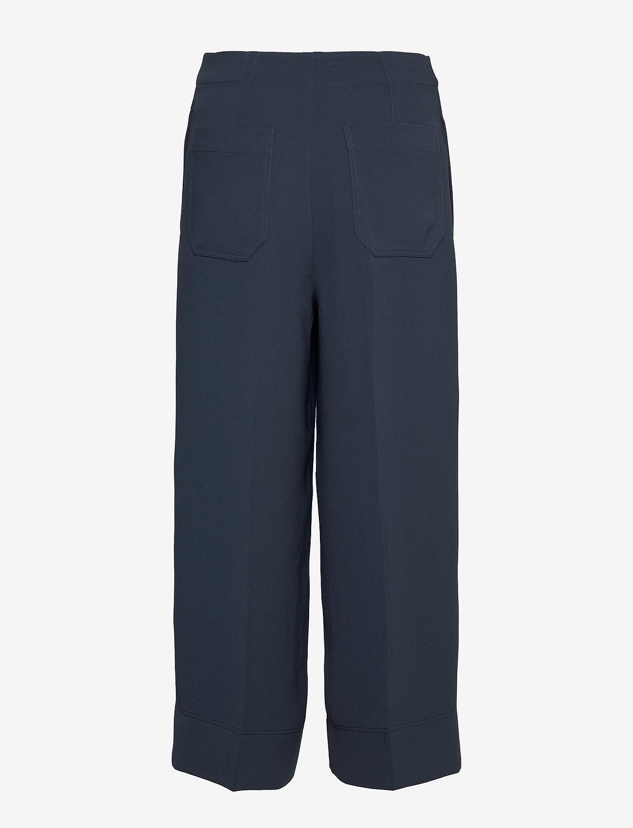 Hope - Frame Trousers - bukser med brede ben - navy - 1
