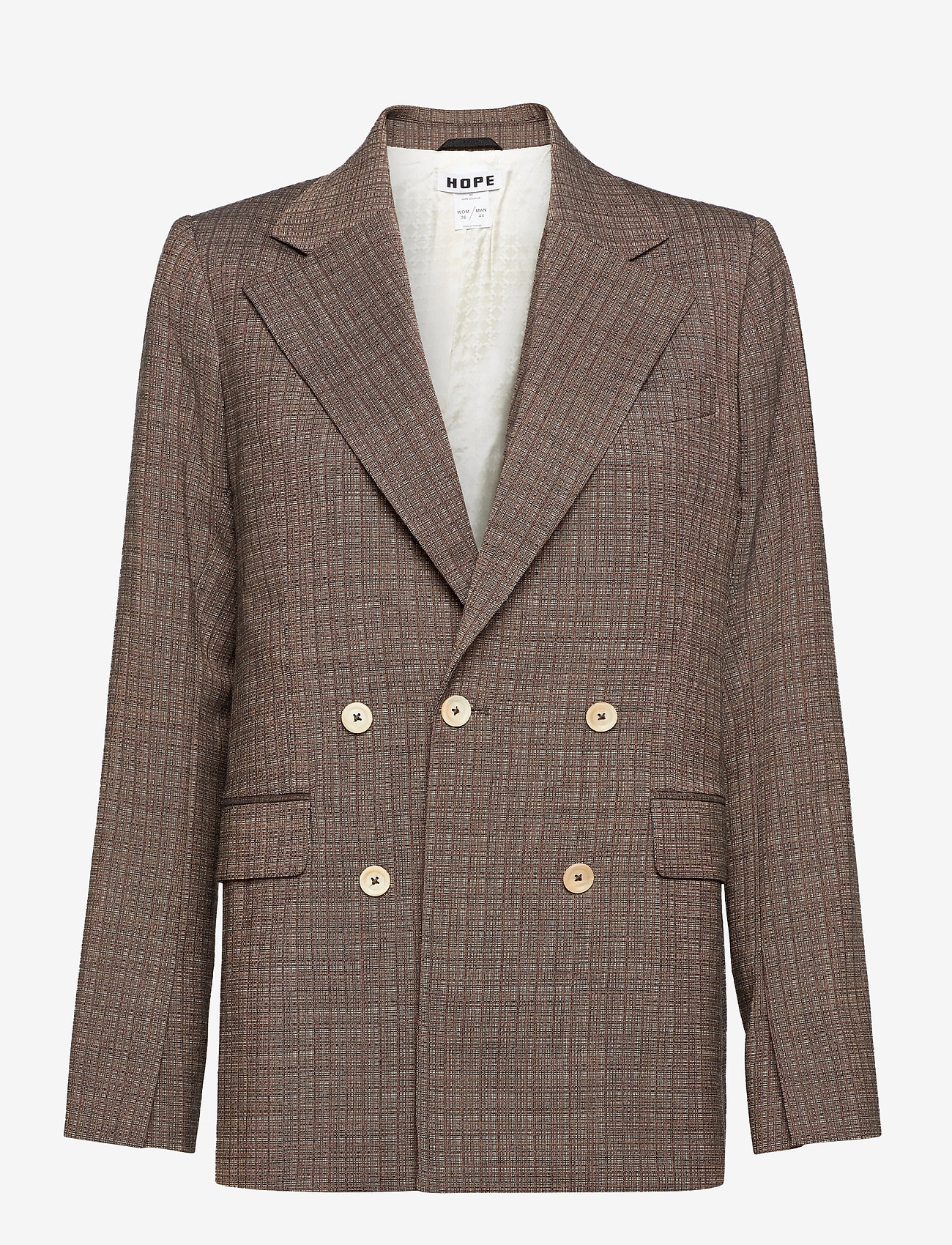 Hope - Dux Blazer - casual blazers - brown melange - 0