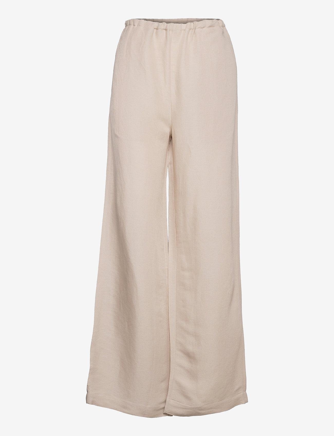 Hope - Laze Trousers - bukser med brede ben - beige - 0