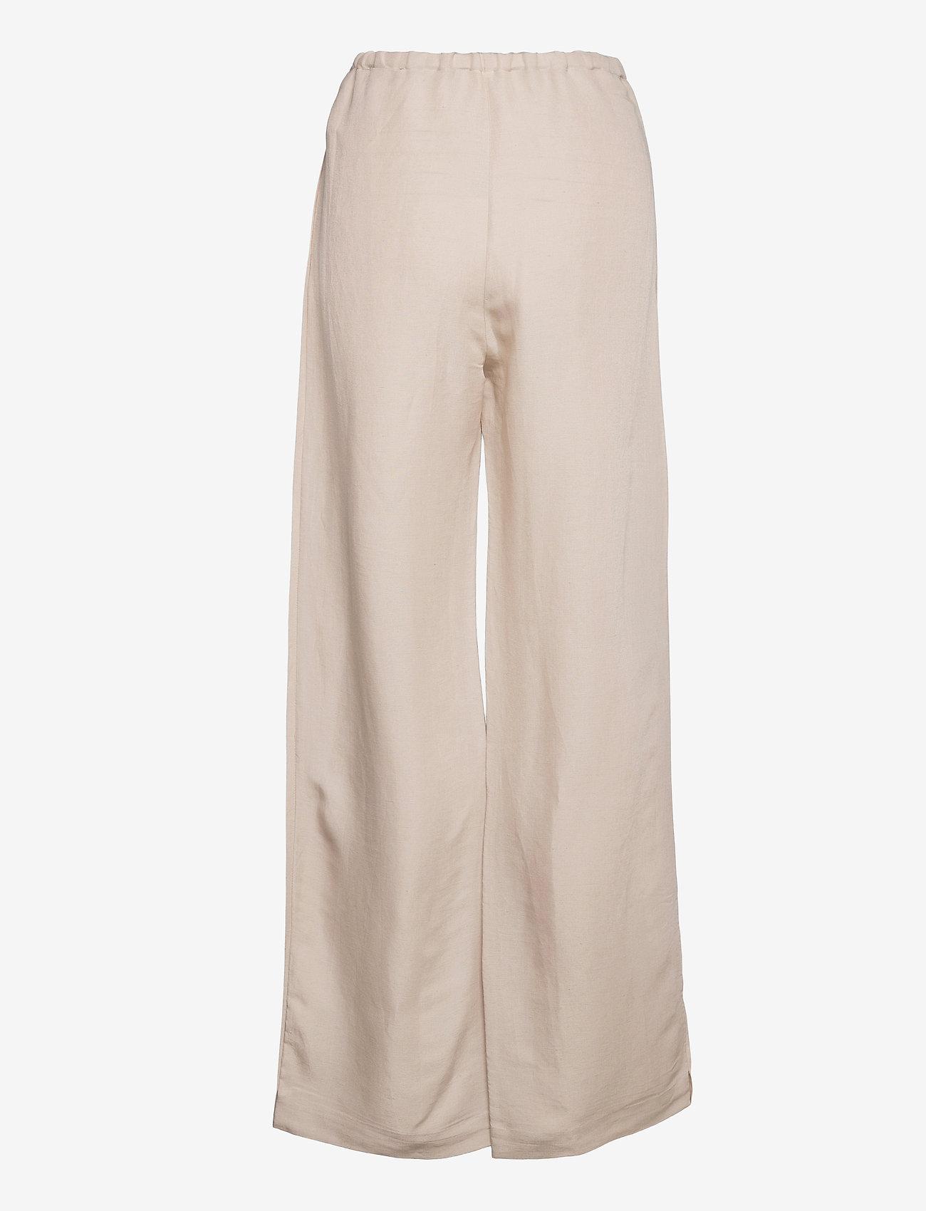 Hope - Laze Trousers - bukser med brede ben - beige - 1