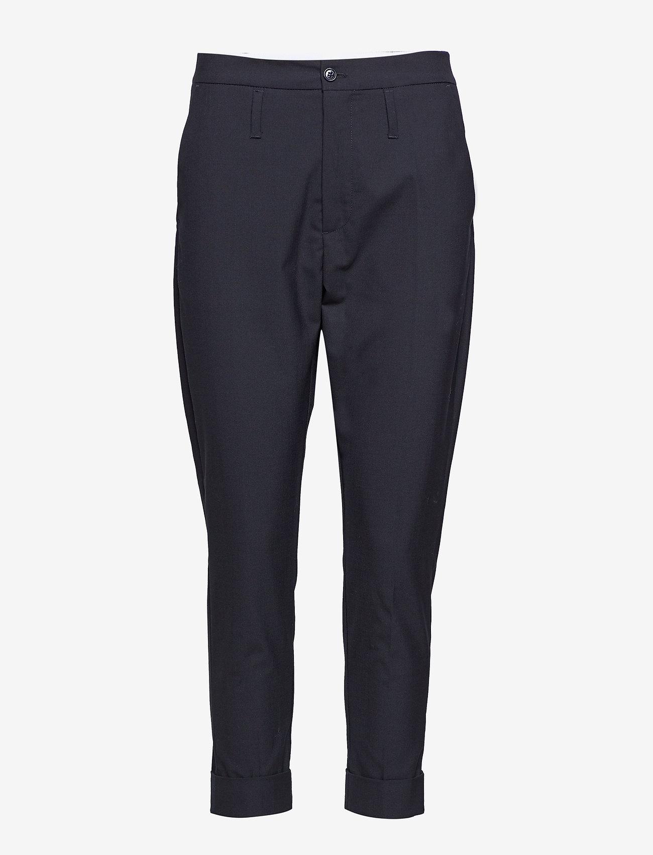 Hope - Law Trouser - bikses ar taisnām starām - black - 0