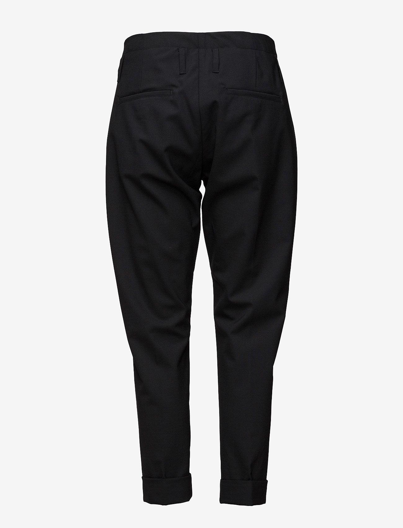 Hope - Law Trouser - bikses ar taisnām starām - black - 1