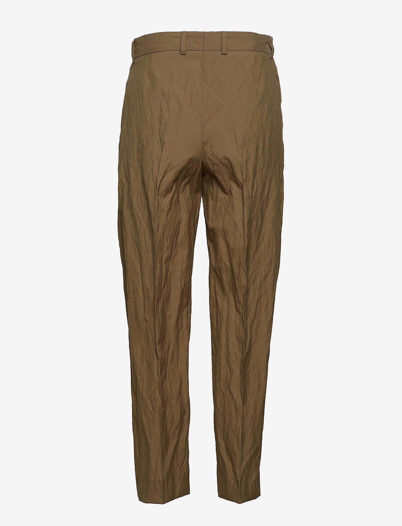 Hope - Alta Trouser - suorat housut - khaki green