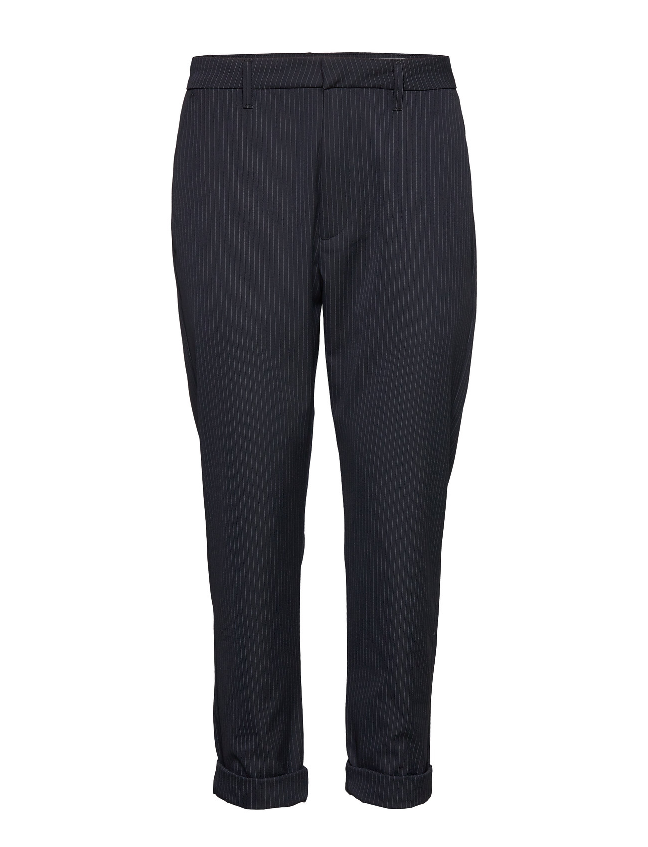 Hope News Trousers - DK BLUE PINSTRIPE