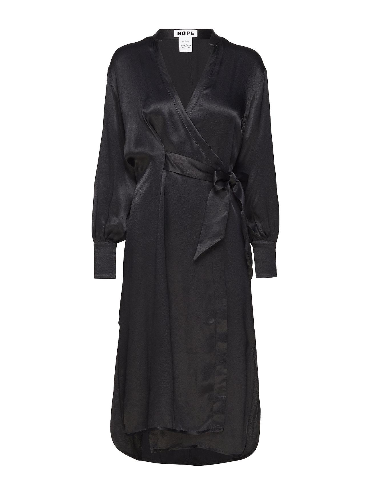 Hope Split Puff Dress - BLACK