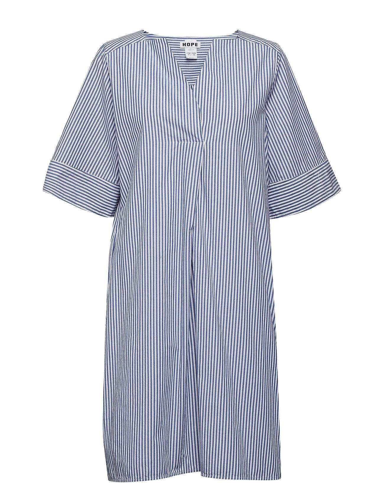 Hope Mono Dress - BLUE STRIPE