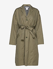 Hope - Standard Coat - trenchcoats - khaki green - 0