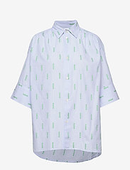 Hope - Dusty Shirt - overhemden met korte mouwen - lt blue stripe - 0