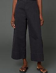 Hope - Vast Trousers - bukser med brede ben - washed black - 0