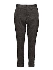 Law Trouser - DK GREY STRIPE