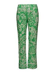 Bon Trouser - GREEN PAISLY