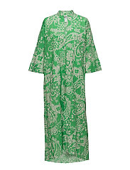 Pride Dress - GREEN PAISLY