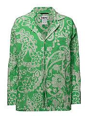 Still Shirt - GREEN PAISLY