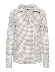 Maxi Shirt - OFF WHITE CHECK