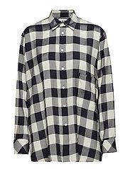 Elma Shirt - DK NAVY CHECK