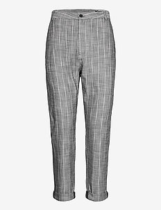 News Edit Trousers - casual trousers - grey stripe