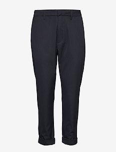 News Trousers - DK BLUE PINSTRIPE