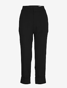 Jet Trousers - rette bukser - black