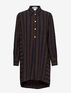 Rail Dress - BROWN STRIPE