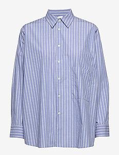 Elma Shirt - long-sleeved shirts - grey stripe