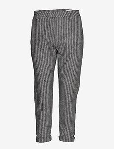 News Trousers - slim fit spodnie - black stripe