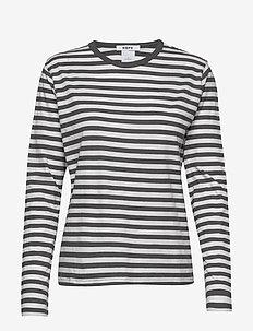 Base LS Tee - stripede t-skjorter - black stripe
