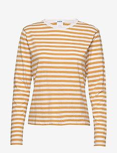 Base LS Tee - stribede t-shirts - orange stripe