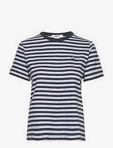 First Tee - stripede t-skjorter - shirt blue stripe
