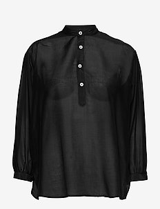 Key Shirt - långärmade blusar - black