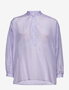Key Shirt - långärmade blusar - lt purple
