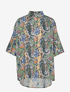 Dusty Shirt - overhemden met korte mouwen - green paisley