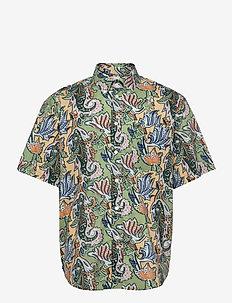 Note Shirt - GREEN PAISLEY