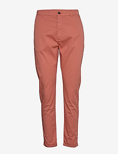 News Edit Trouser - casual trousers - coral pink