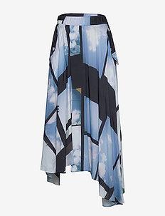 Lap Skirt - midi kjolar - heaven blue print