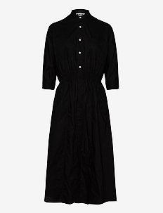 Duo Dress - skjortklänningar - black