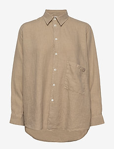 Elma Shirt - long-sleeved shirts - beige