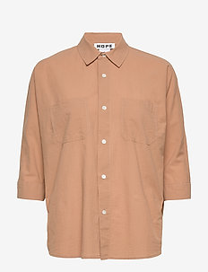 Way Shirt - langærmede skjorter - copper beige