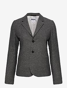 The One Blazer Edit - blazere - charcoal melange