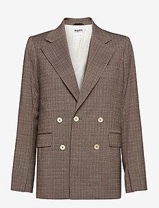 Dux Blazer - blazers - brown melange