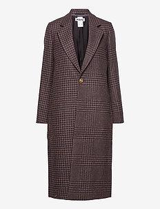 Cover Coat - manteaux en laine - brown duo check